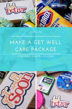 How to Make a Get Well Care Package for Cold and Flu Season Flu Season, Get Well, Pop Tarts, Silhouette Cameo, Sd, Snack Recipes, Arts And Crafts, Packaging, Wellness