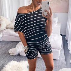Maternity One Shoulder Stripe Jumpsuit – loveinbabe