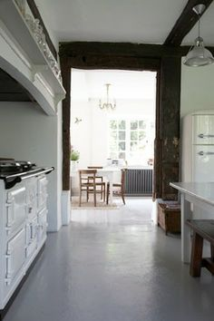 materials and finishes: painted concrete floor ... decision has been made :)  Yay!  Love this!!
