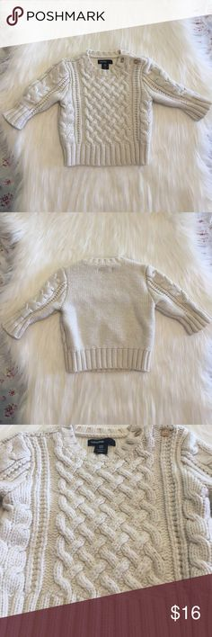 Baby Gap Cream Colored Sweater Baby Gap Cream Colored Sweater!                                          • Brand: Baby Gap!                                                                     • Size: 3-6 mos.!                                                                        • Happy to answer any ?'s!                                                        • Offers welcome! baby gap Shirts & Tops Sweaters