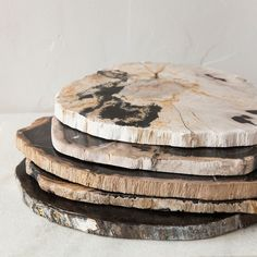 Petrified Wood - Petrified wood—wood that has gone under a fossilization process—is used to create these stunning home accessories. Terrain's petr...