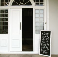 Choose a Seat, Not a side Chalkboard  #handchalked #chalkboard #weddingsignage #wedding #capetownwedding #weddingceremony