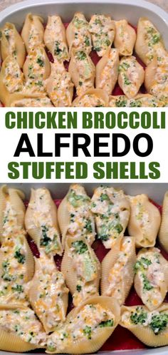 Chicken Alfredo Stuffed Shells is an easy family meal that is perfect for a those busy weeknights. These jumbo shells are filled with shredded chicken, broccoli, and a creamy Alfredo sauce. Serve these chicken and broccoli shells with a side salad and garlic bread.