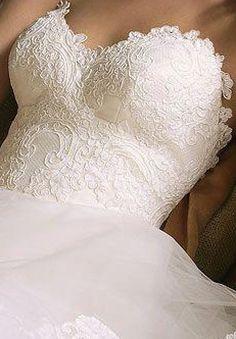Beautiful laced sweet heart neckline