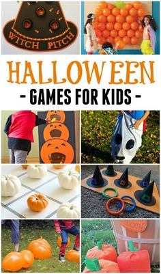 These really simple and not-too-scary Halloween games for kids will help you host the best Halloween party ever! These really simple and not-too-scary Halloween games for kids will help you host the best Halloween party ever! Simple yet tons of fun! Halloween Playlist, Scary Halloween Games, Diy Halloween Party, Halloween School Treats, Halloween Party Supplies, Halloween Birthday, Halloween Themes, Halloween Cupcakes, Kindergarten Halloween Party