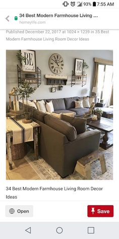 Pretty much our living room colors New Living Room, Living Room Decor, Living Room Colors, Living Room Designs, Farmhouse Decor, Family Room Design, Cozy House, Casa Ideal, Living Room Inspiration