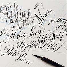Stephanie Fishwick, modern calligraphy
