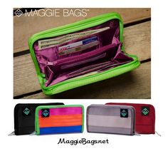 "Here's what Theresa in California says about her Maggie Bags wallets ""So many people are envious of my wallets. I have 2 in different colors to match my bags...Does not wear out like other materials. Love them!"""
