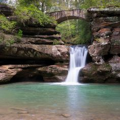 Hocking Hills State Park in  Ohio is home to many beautiful natural formations, such as the popular Old Man's Cave — which was inhabited by explorers in the late 1700s.