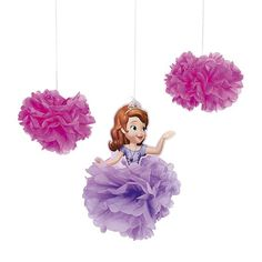Sofia the First(TM) Tissue Paper Decorations Princess Sofia Birthday, Princess Sofia The First, Sofia The First Birthday Party, Pink And Gold Birthday Party, First Birthday Party Decorations, Princess Party, Tissue Paper Decorations, Mickey Mouse Parties, Minnie Mouse