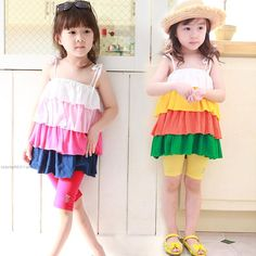 Sweet Kid Girls Candy Color Cake Halter Dresses Summer Cute Ruffles Dresses Casual Stylish Party Dresses from Smartmart,$6.27 | DHgate.com