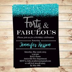 Birthday Invitations For Women Forty And By DIYPartyInvitation 40th Party