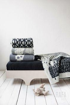 Scandinavian wool blankets available at Rafa-kids
