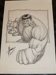 DALE KEOWN - HULK Comic Art ~~~~ I drew this exact same drawing for my cousin who broke his arm