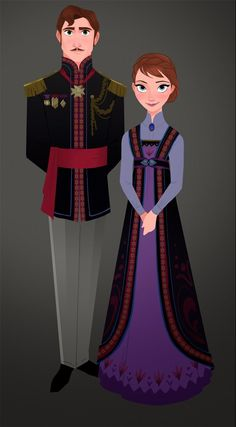 King and Queen of Arendelle concept art. Costume Design in Animation - Disney's Frozen - Tyranny of Style