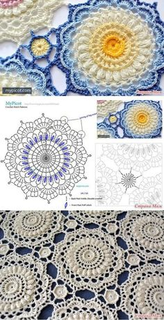 crochet granny squares The Ultimate Granny Square Diagrams Collection ⋆ Crochet Kingdom - The Ultimate Granny Square Diagrams Collection.The Ultimate Granny Square Diagrams Collection ⋆ Crochet Kingdom - SalvabraniHow to Crochet Flower, Make a Gr Crochet Mandala Pattern, Crochet Doily Patterns, Crochet Diagram, Crochet Chart, Crochet Squares, Thread Crochet, Crochet Doilies, Crochet Flowers, Crochet Stitches