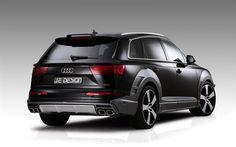 Lataa kuva Audi Q7 S line, 2017, - Suunnittelu, 4k, musta Q7, Q7 viritys, ylellisyyttä MAASTOAUTO, Audi