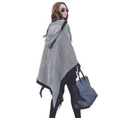 2018 Winter Fashion Shawl For Women Brand Designer unique design Even Hat Shawl Acrylic Plaid Oversized Scarves Curvy Women Fashion, Womens Fashion, Fashion Edgy, Fashion Hats, Fashion Sandals, Casual Chic Style, Women Brands, Women's Fashion Dresses, Womens Scarves