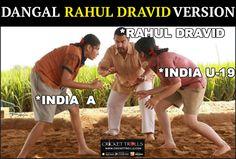 Rahul Dravid Dangal Version #TeamIndia For more cricket fun click: http://ift.tt/2gY9BIZ - http://ift.tt/1ZZ3e4d