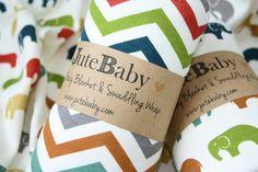 Organic Baby Blanket, Multi Color Chevron or Multi Color Elephants Baby Blanket, Toddler Blanket by JuteBaby on Etsy, $35.00