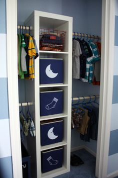 The closets I want for the kids room. I love this blog. She has awesome ideas on everything organization.