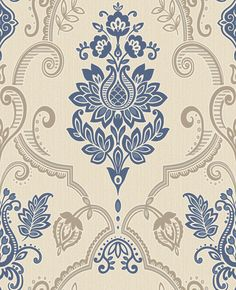 Sandringham Navy wallpaper by Albany