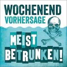 HOMEMADE IN HAMBURG Kühlschrankmagnet Meist betrunken