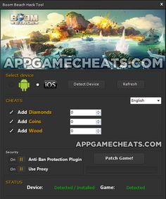 Boom Beach cheats and hack for diamonds, coins and wood http://appgamecheats.com/boom-beach-cheats-tips-hack-diamonds-coins-wood/