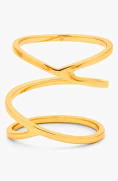 gorjana+'Zoe'+Crossover+Ring+available+at+#Nordstrom