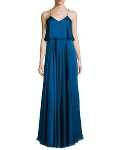 Sleeveless Iridescent Popover Gown  by Halston Heritage at Neiman Marcus.