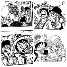 Luffy & Nami are a couple, my sir One Piece Comic, Nami One Piece, One Piece Ship, One Piece Fanart, Luffy X Nami, Zoro, Manga Art, Manga Anime, Brother And Sister Relationship