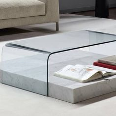 Bonaldo RIBBON Designer Couchtisch mit Marmor- Design Mauro Lipparini - empor.de