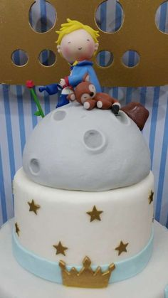 Little Prince birthday party cake topper! See more party ideas at CatchMyParty.com!