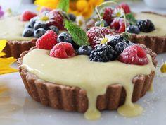 Mixed Berry Vanilla Bean Cream Tarts |