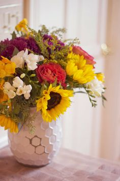 DIY Fall Flower Arrangement