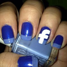 facebook nail design- why would anyone do this....lol