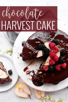 Chocolate Harvest Cake | This Chocolate Harvest Cake has been on my todo list for a long long time, and I am finally sharing! I discovered this recipe back when I was a newly wed. I made it several times for parties and friends, and it is always so well loved. || Oh So Delicioso