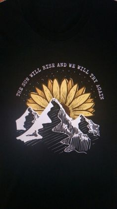 The sun will rise and we will try again Twenty One Pilots Wallpaper, Twenty One Pilots Art, Still I Rise Tattoo, Sunrise Tattoo, Pilot Tattoo, Sun Drawing, Sunflower Quotes, Sunrise Mountain, Small Tats