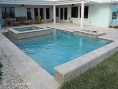 Ivory Tumbled Travertine Pavers - modern - pool - miami - by Travertine Mart