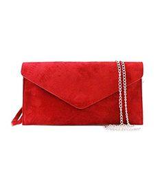 d0964bce3a Genuine Italian Suede Leather Envelope Clutch Bags Party Wedding Purse  Handbag Cross Body Bag CW01