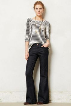 Anthropologie Pilcro Stet Flare Jeans Sizes 24 & 26, Liberty Wash