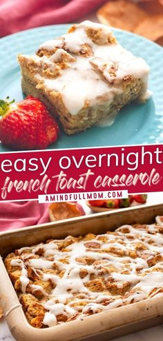 Say hello to your new staple recipe for entertaining a crowd during the holidays! This Easy Overnight French Toast Casserole takes 15 minutes of hands-on prep. Simply pop it in the oven the next morning to enjoy a delicious breakfast! Try this recipe this Christmas! Easy Breakfast Casserole Recipes, Breakfast Casserole With Biscuits, Overnight Breakfast Casserole, French Toast Casserole, Staple Recipe, Healthy Thanksgiving Recipes, Overnight French Toast, Food Staples, Kitchen Recipes