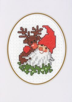 Christmas Cards - Permin UK Cross Stitch Christmas Cards, Santa Cross Stitch, Tiny Cross Stitch, Cross Stitch Cards, Cross Stitch Kits, Christmas Cross, Cross Stitch Designs, Cross Stitching, Cross Stitch Embroidery