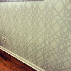 Stenciled walls! (This is the stencil in Money Mike's house - done in Black Matte and Black Gloss)