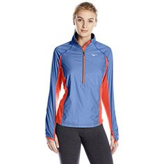 Mizuno Running Women's Breath Thermo Wind Top Half Zip Tee -- See this great product. (This is an affiliate link) #JacketsCoats
