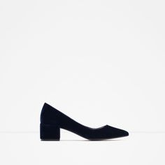 BLOCK HEEL VELVET SHOES-Shoes and Bags-Woman-NEW IN | ZARA United States