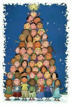 Albero di Natale con le foto dei bimbi della classe...