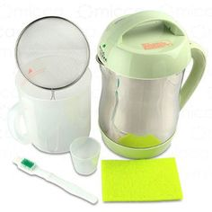 Joyoung CTS1048 Soymilk Maker: Stop lugging heavy cartons from the grocery store and easily make your own soy milk from the beans without additives like guar gum and calcium carbonate for about $0.15  per 1.6L batch. This filterless system is easy to clean.