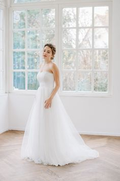 Simple Tulle Dress - Perfect Bridal Dress for doing your own combinations... by Sina Fischer