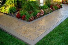 26 Super Ideas For Stamped Concrete Patio Ideas Front Porches Photo Galleries Concrete Path, Concrete Driveways, Stamped Concrete, Walkways, Patio Steps, Diy Patio, Country Patio, Patio Makeover, Texture
